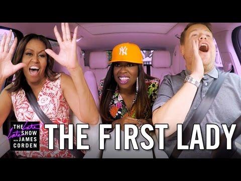 First Lady Michelle Obama Carpool Karaoke