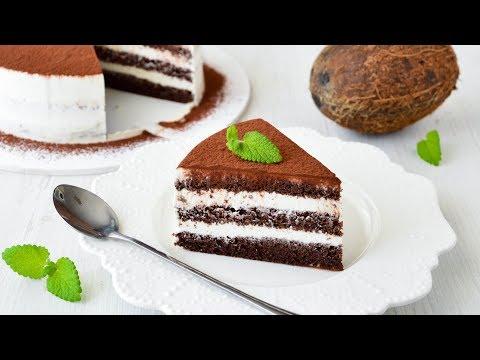 НИЗКОУГЛЕВОДНЫЙ Шоколадно-Кокосовый ТОРТ ☆ #KETO