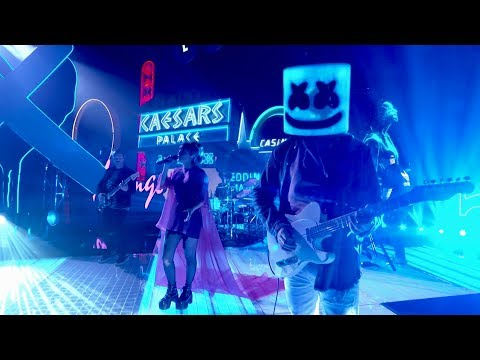Marshmello ft. CHVRCHES - Here With Me (Jimmy Kimmel Live in Las Vegas Performance Video)