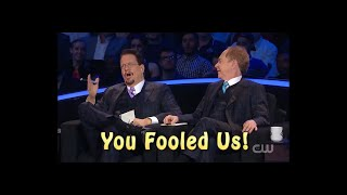 Penn & Teller totally fooled by Mirror Illusion.