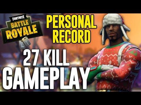 27 Kill Solo Squad Gameplay!! Fortnite Battle Royale Gameplay - Ninja