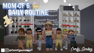 MOM OF 6 Daily Routine!! II Roblox Bloxburg