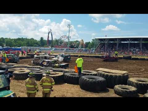 sauk county demo derby stock truck and car 2018