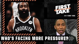 Stephen A. explains why James Harden faces the most pressure of the Nets' Big 3 | First Take