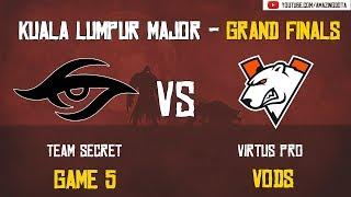 [VODs] Team Secret vs Virtus Pro | GAME 5 - Grand Finals - BO5 | The Kuala Lumpur Major