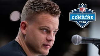 """Joe Burrow's Full NFL Combine Presser, """"I made a lot of relationships there"""""""