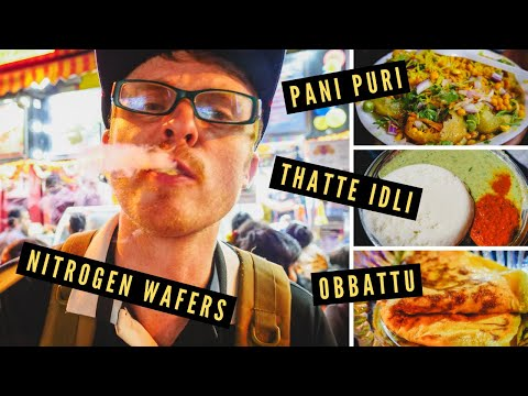 BANGALORE STREET FOOD at VV Puram Food Street [Amazing INDIAN STREET FOOD in Bengaluru, India]