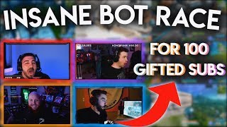 WE HAD A BOT RACE FOR *100* GIFTED SUBS | With Timthetatman, Drlupo, Nickmercs