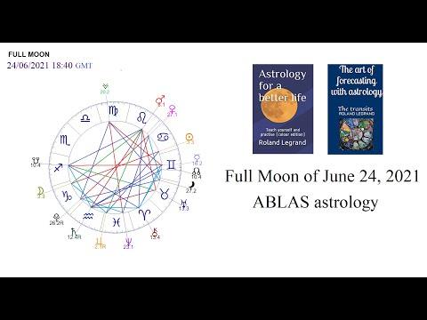 The Full Moon of June 24, 2021 - ABLAS astrology