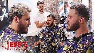 HOW TO FIX A RECEDING HAIRLINE | Jeff's Barbershop ft. Zane Hijazi