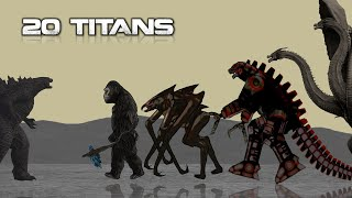 Monsterverse Titans   Animated Size Comparison
