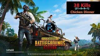 "[Hindi] PUBG Mobile   ""38 Kills"" Amazing match With Chicken Dinner"