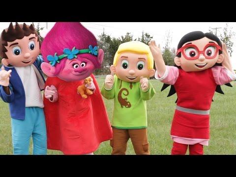 Trolls Haircuts By PJ Masks Romeo - Owlette Turns Into Trolls Movie Poppy, Paw Patrol In Real Life