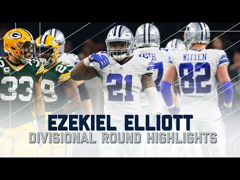 Ezekiel Elliott's Incredible Playoff Debut | Packers vs. Cowboys | NFL Divisional Player Highlights