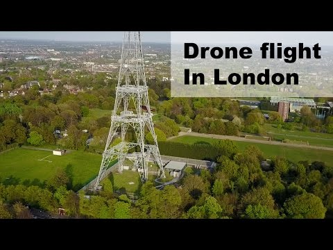 Drone flight over London, Crystal Palace park