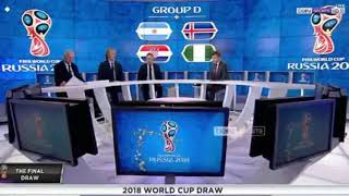 Goup D World cup draw pundits and discussion   Argentina Iceland Croatia Nigeria