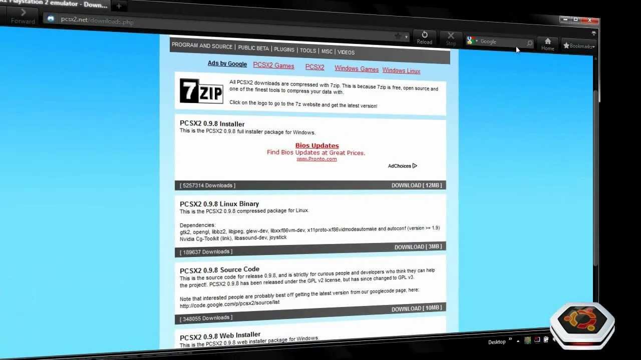 COM BIOS BAIXAR PCSX2 EMULADOR 0.9.8