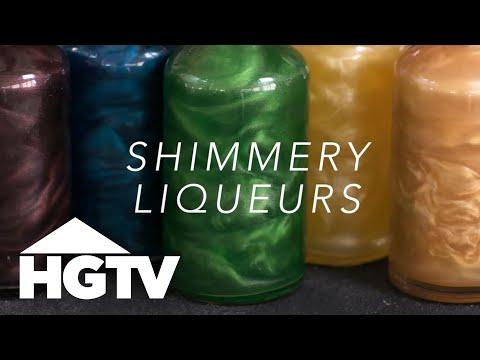 DIY Shimmery Liqueurs - HGTV