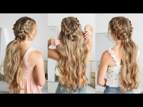 3 DOUBLE BRAIDED HAIRSTYLES | Missy Sue