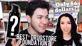 "TESTING THE ""BEST"" DRUGSTORE FOUNDATION EVER? ThaTaylaa made me buy it..."