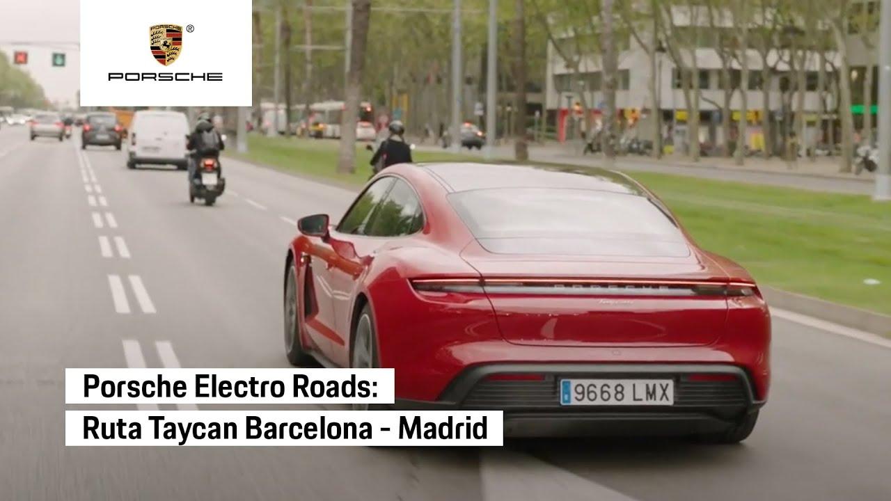 Ruta Barcelona-Madrid con el Porsche Taycan