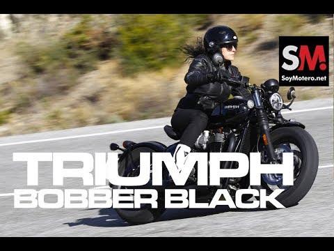 Triumph Bonneville Bobber Black 2018: Prueba Moto Custom [FULLHD]