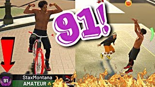 HITTING 91 OVERALL GETTING A BIKE! MY FIRST GAME AT 91 OVERALL UPGRADING MY 3's! - NBA 2K19 MyPARK