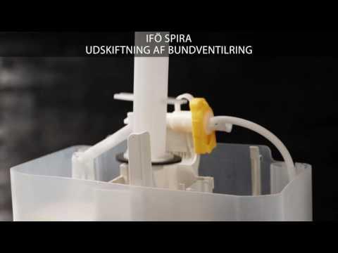Udskiftning af bundventilring på et Ifö Spira toilet