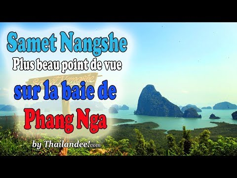 samet nangshe viewpoint - vue sur la baie de phang nga