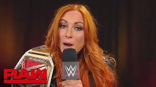 Becky Lynch sends a message to the Women's locker room: Raw, Aug. 12, 2019