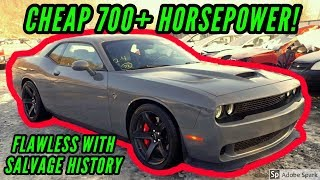 Copart Cheap Dodge Hellcat with No Damage sells at Salvage Auction HELLKEAZY widebody
