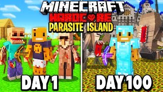We Survived 100 Days in a PARASITE APOCALYPSE ISLAND in Hardcore Minecraft... Here's What Happened