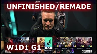 [UNFINISHED / REMADE] Fnatic vs SK Gaming | Week 1 Day 1 of S9 LEC Spring 2019 | FNC vs SK W1D1