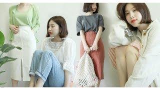 Summer Lookbook & Haul / 여전히 심심한 나의 여름 룩북 & 하울 (with SUB)