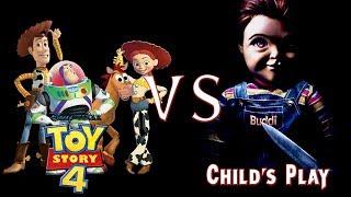 Toy Story 4 Vs Child's Play 2019 + Chucky Story REACTION