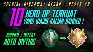 10 Hero OP Terkuat Season 14 Yang Wajib Kalian Banned ! Giveaway Besar-besaran !