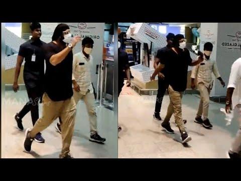 Prabhas visuals at Hyderabad Airport: Back from Radhe Shyam shoot