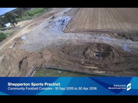 Timelapse - Shepparton Regional Sports Precinct: Community Football Complex