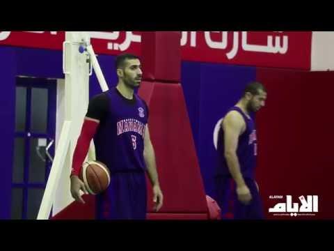 استعدادات نادي المنامة للنهائي الثاني من بطولة كاس السوبر لكرة السلة