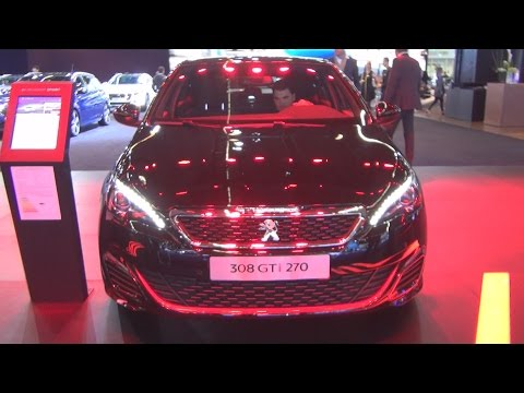 Peugeot 308 GTi THP 270 Start&Stop Black Pearl (2016) Exterior and Interior in 3D