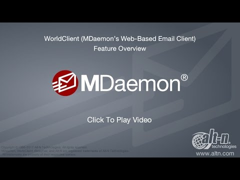 WorldClient (MDaemon's Web-based Email Client) – Version 17 Overview