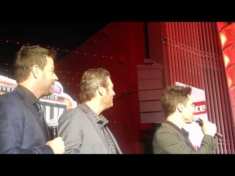 Blake Shelton Adam Levine Carson Daly clowing around for the holidays