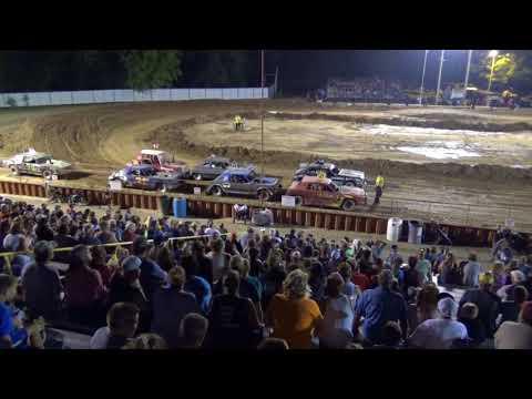 Ogemaw County Fair 2018 Bump and Run (big cars) Feature (8-15-18)