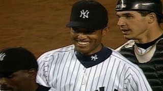 CAL@NYY: Mariano Rivera records his first career save