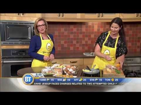 Getting Vancouver Breakfast Television off to a great day with eggs.