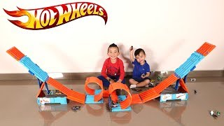 We Build The BIGGEST Hot Wheels Race Crate Track Ever Racing Fun With Ckn Toys