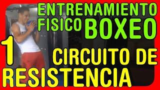 Entrenamiento Físico para boxeo: Circuito de resistencia a la potencia y a la fuerza muscular - Parte 1
