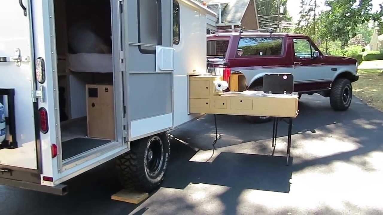 Off Road Cargo Trailer Conversion Amp Slide Out Kitchen