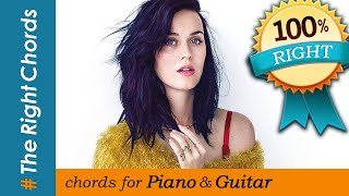Katy Perry - Hot N Cold CHORDS (100% Right)