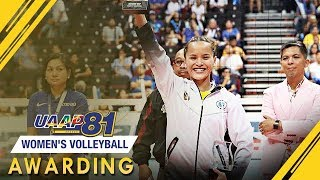 UAAP 81 Women's Volleyball Awarding Ceremony